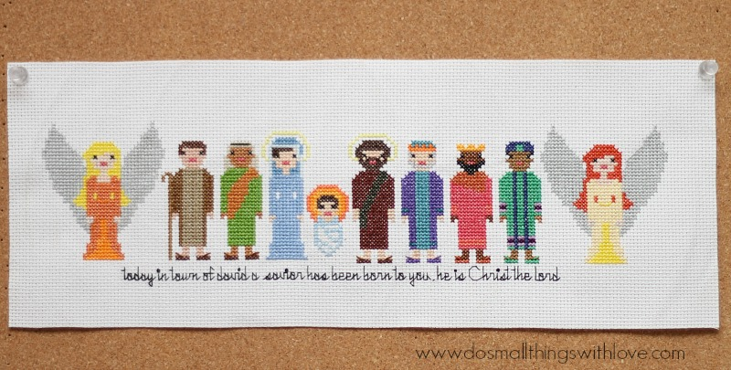 Nativity Characters Cross Stitch Pattern