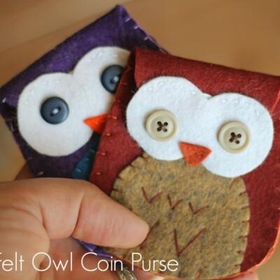 Felt Owl Coin Purses