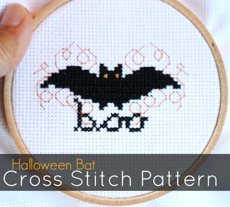 Halloween Bat Cross Stitch Pattern