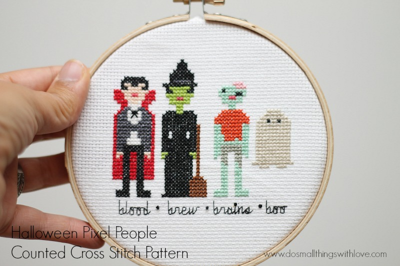 Halloween-Characters-cross-stitch-pattern