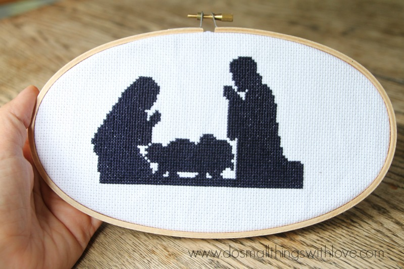 Nativity Silhouette Cross Stitch Pattern