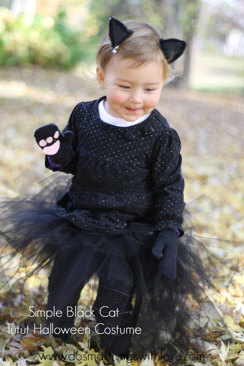 Black Cat Tutu Halloween Costume  sc 1 st  Small Things with Love & Black Cat Tutu Halloween Costume u2013 Do Small Things with Great Love
