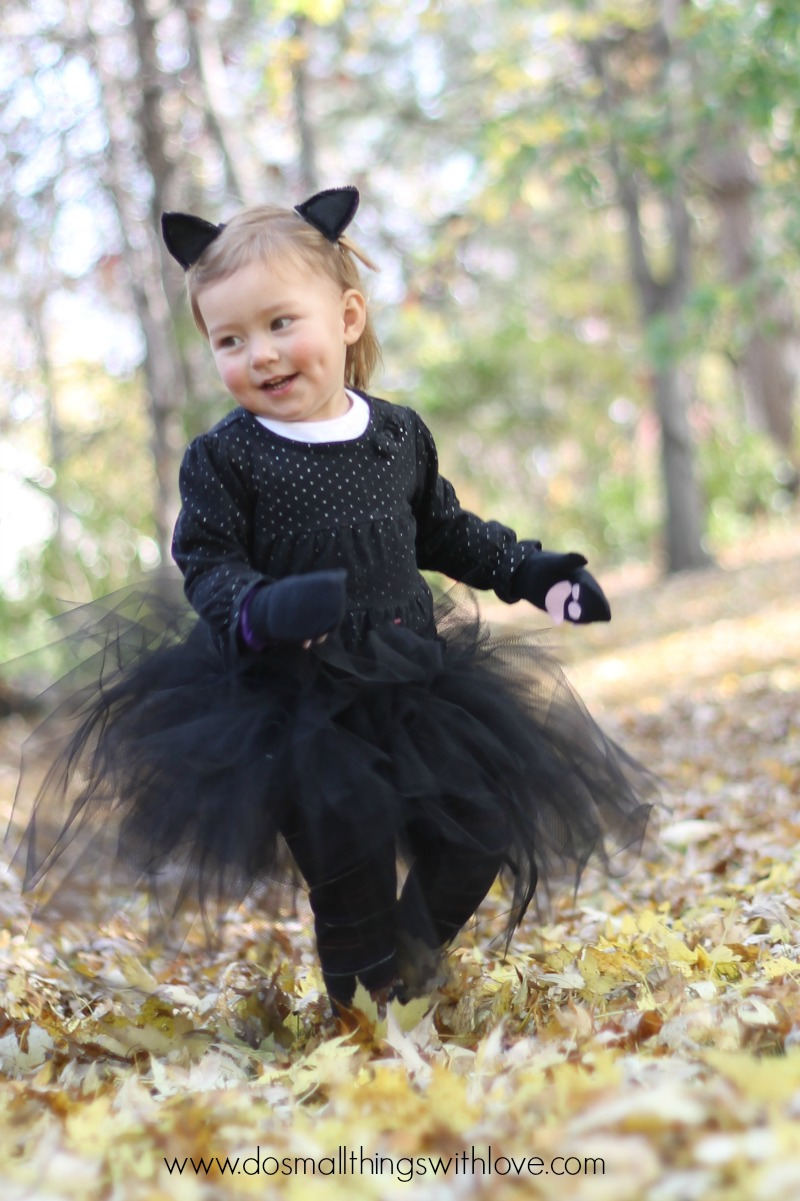 black kitty halloween costume  sc 1 st  Small Things with Love & Black Cat Tutu Halloween Costume u2013 Do Small Things with Great Love