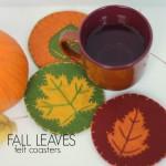 fall leaves felt coasters