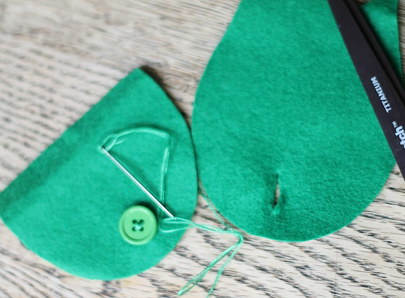 felt owl coin purse button