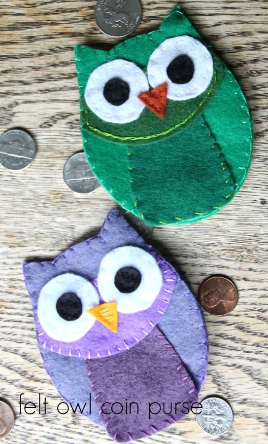 felt owl coin purse ll
