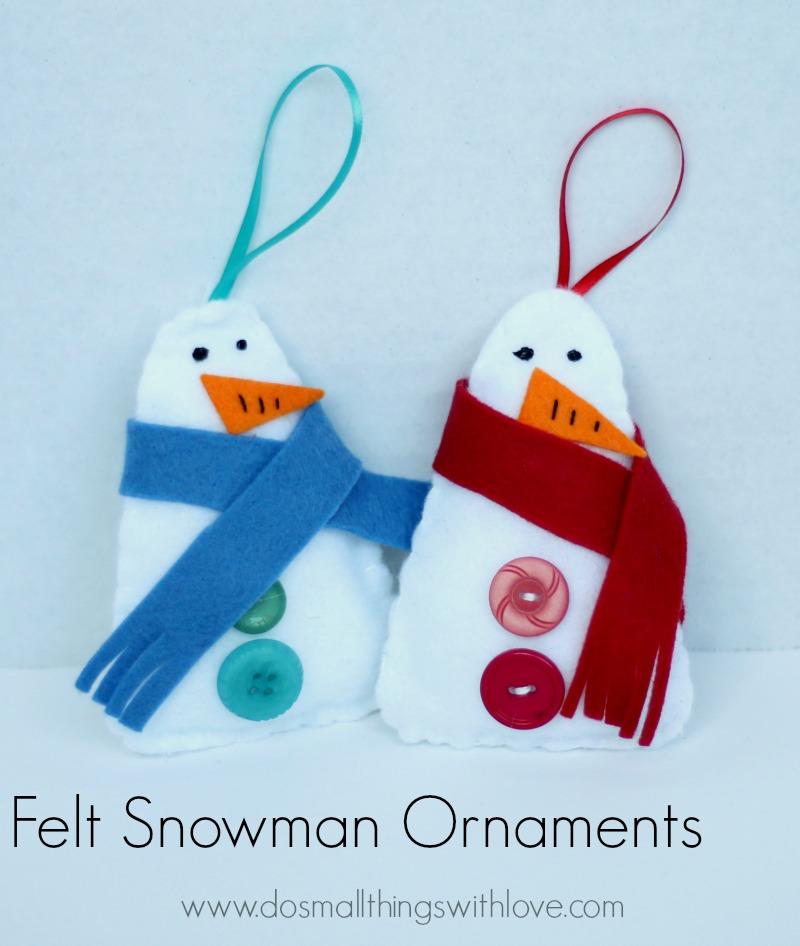 felt snow man ornaments
