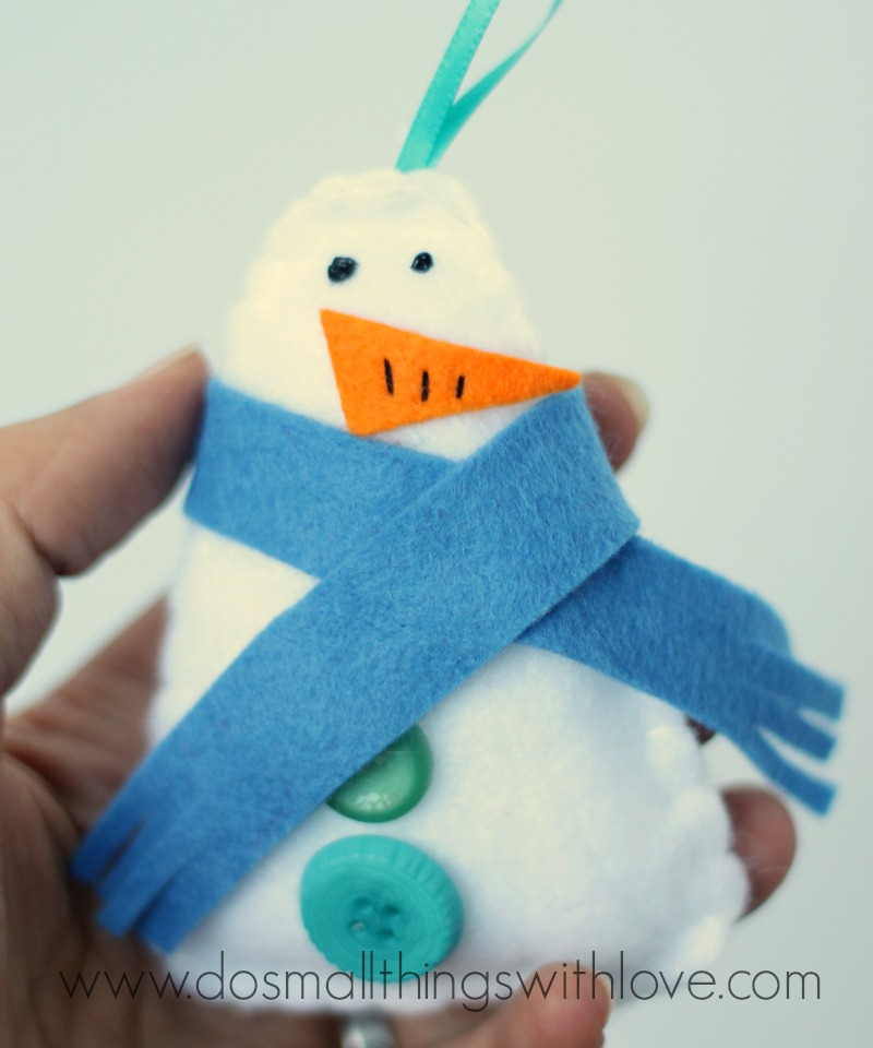 felt snowman ornament tutorial