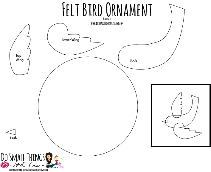 bird ornament template