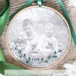 embroidered photo transfer top