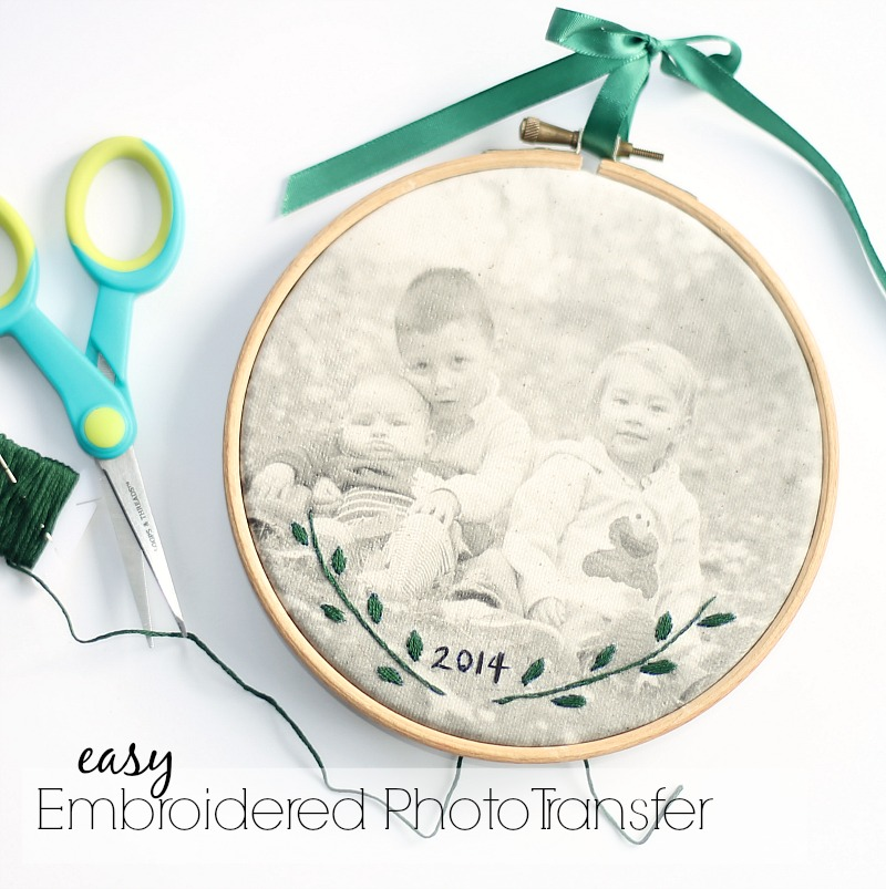 embroidered photo transfer tutorials