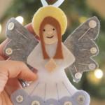 felt angel ornament free template