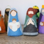 felt nativity m and j