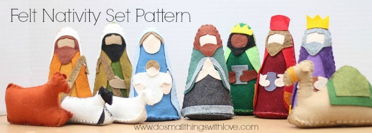 felt nativity new whole w text
