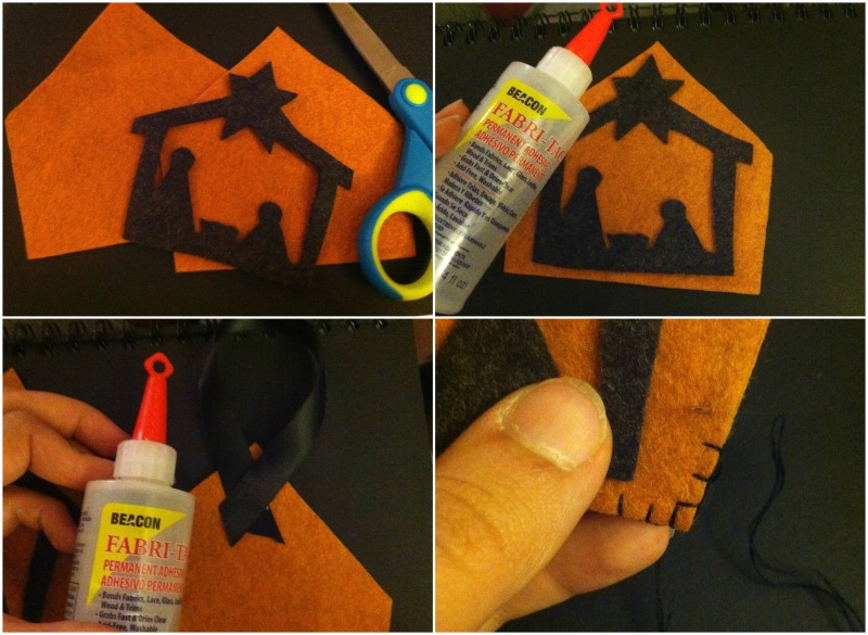 felt nativity ornament tutorial