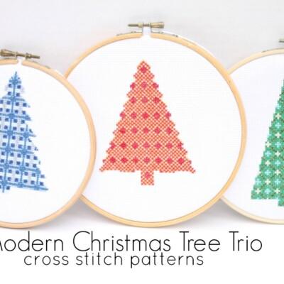 Modern Christmas Tree Cross Stitch Patterns