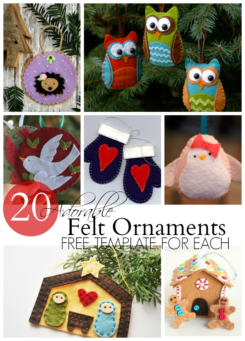 20 Adorable Felt Ornaments Do Small Things With Great Love