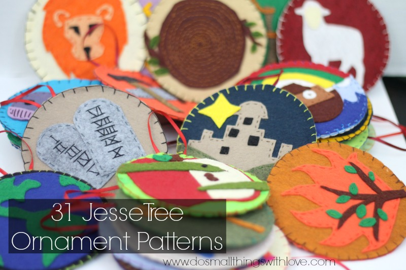 Jesse tree ornaments patterns u do small things with great love