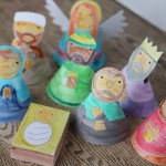 color a nativity set this Christmas