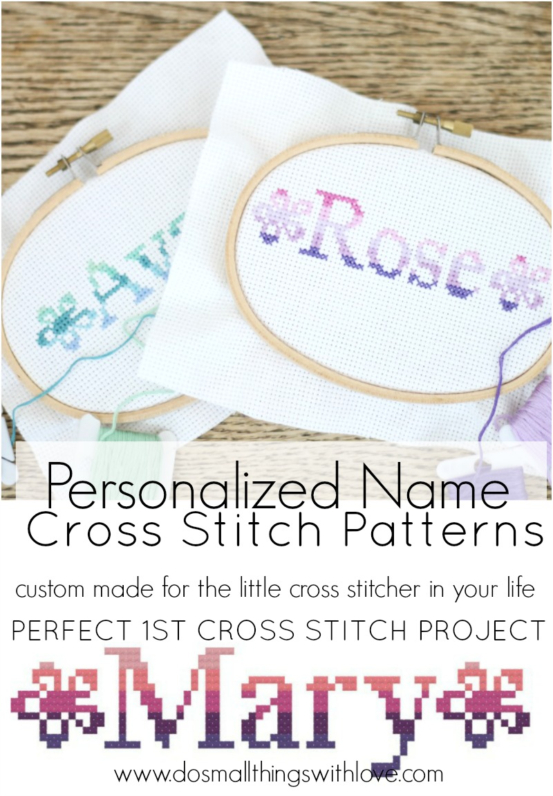 Image Gallery name cross stitch patterns