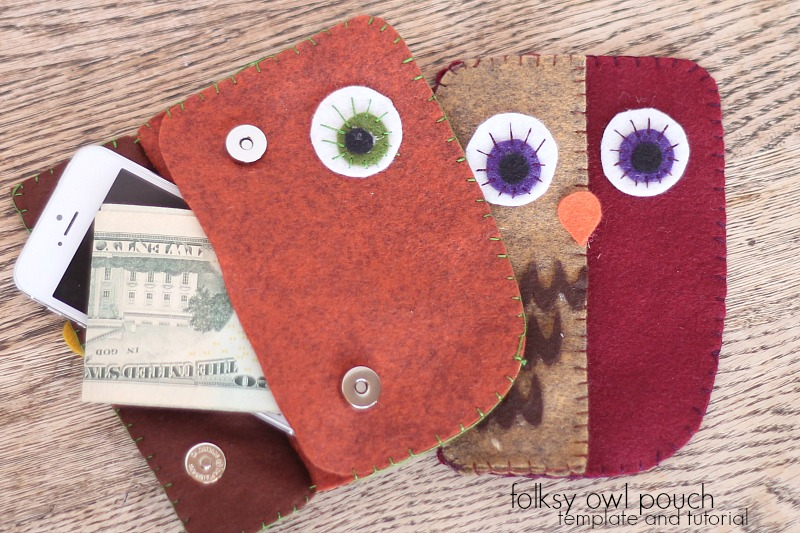 folksy owl pouch with free template