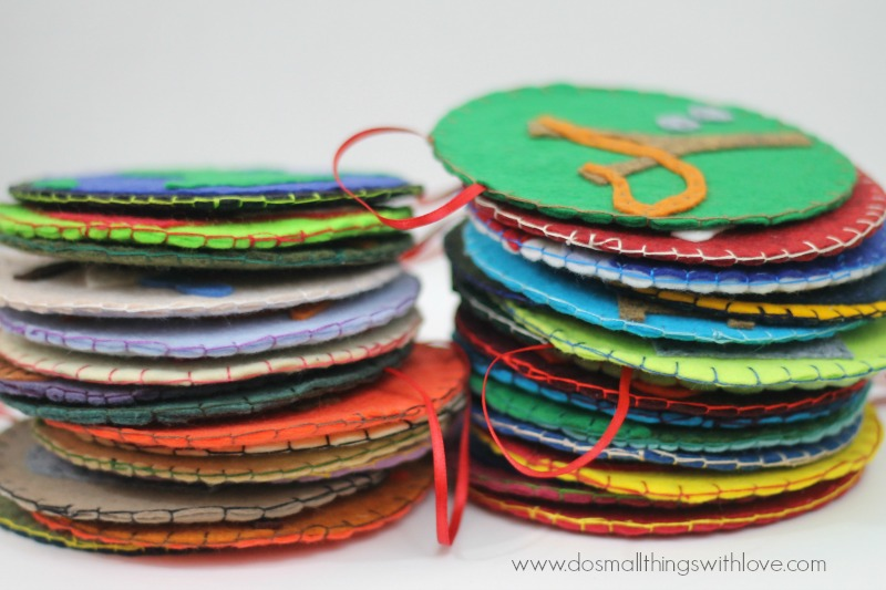 jesse tree ornaments blanket stitch