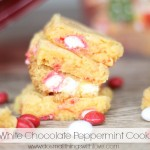m&m white chocolate peppermint cookie bars