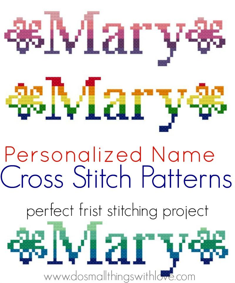 personalized name cross stitch patterns