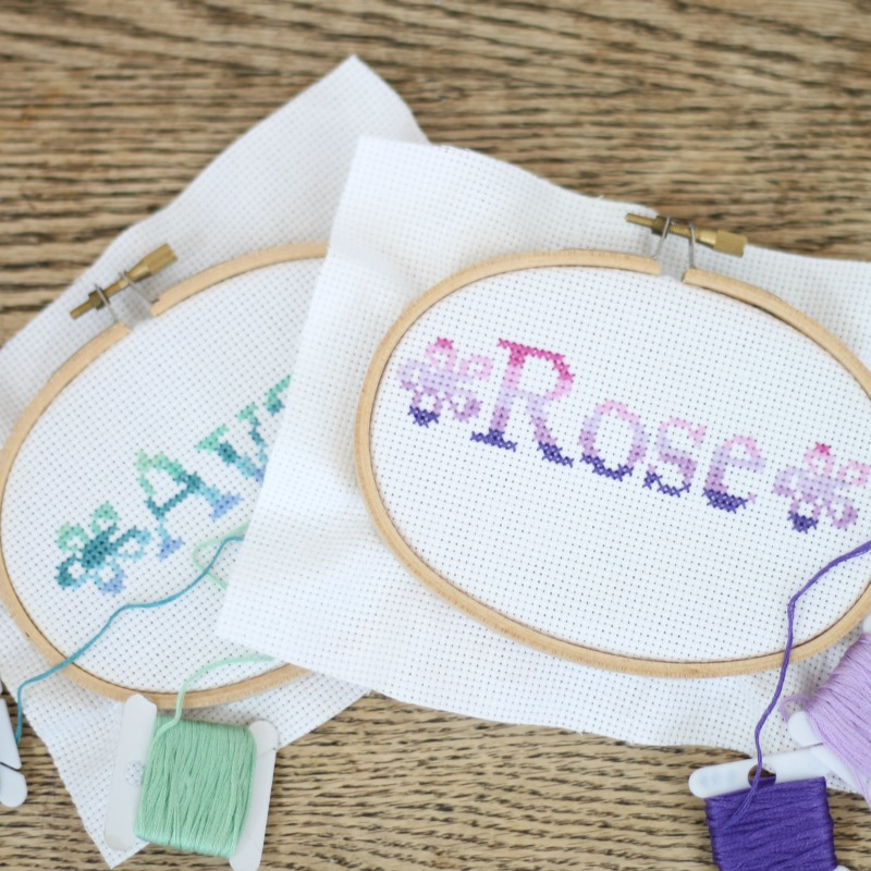 personalized name patterns--1st cross stitch project
