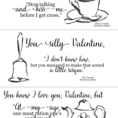 Downton Abbey Valentines (free printable)