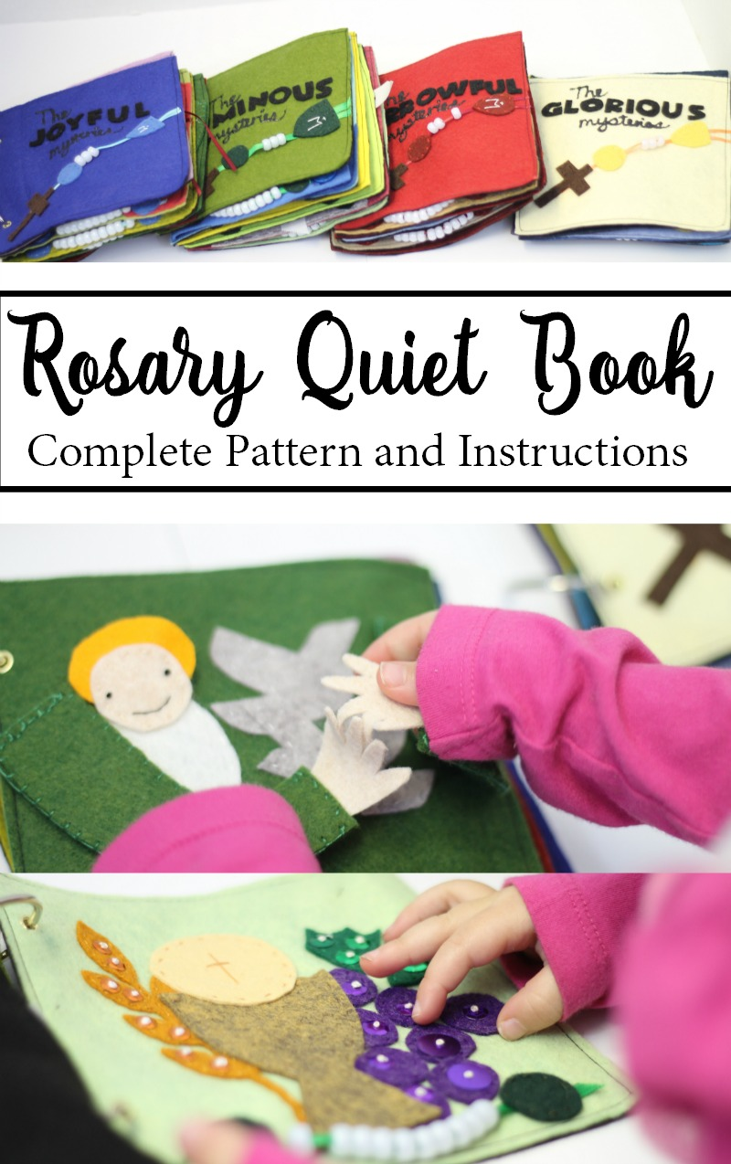 Rosary Quiet Book Felt Pattern and Instructions