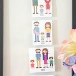family timeline in cross stitch