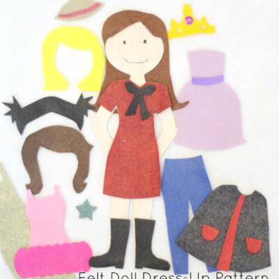 Felt Doll Dress-Up Pattern