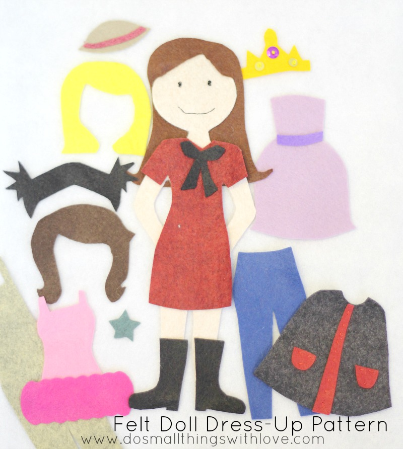felt dress up doll template felt doll dress up pattern do small things with great love