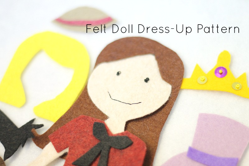 Felt doll dress up pattern do small things with love felt dress up doll pattern pronofoot35fo Choice Image
