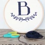 monogram cross stitch patterns