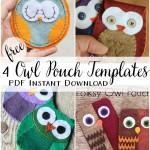 4 owl pouch tempaltes