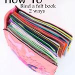 How to bind a felt book 2 ways