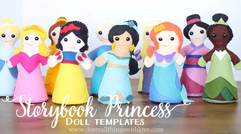 Storybook Princess Doll Templates