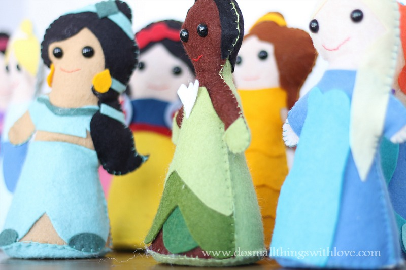 Storybook princess dolls templates
