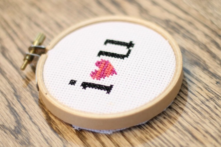 I {heart} You Cross Stitch Pattern