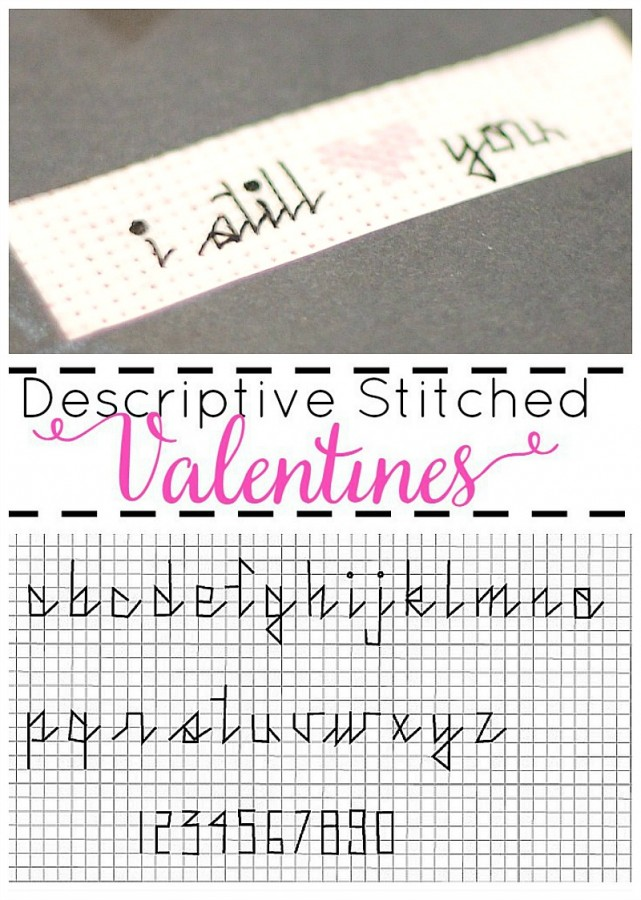 Descriptive Stitched Valentines