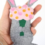 felt spring bunny with template