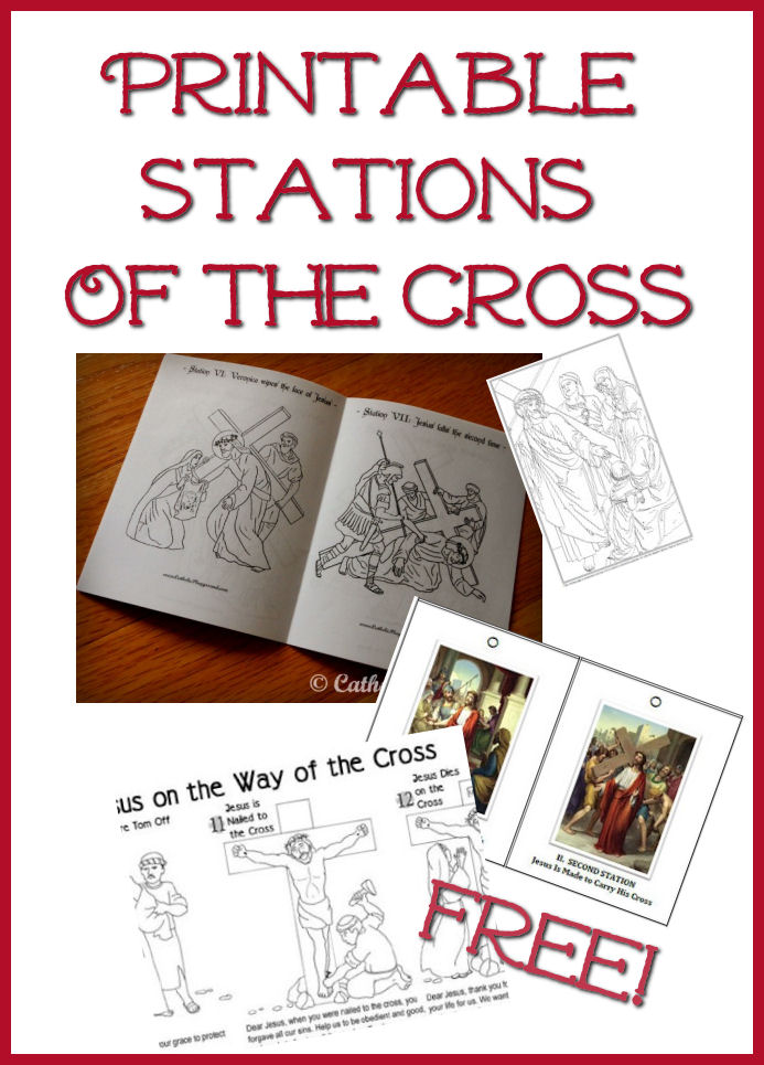 Soft image pertaining to printable stations of the cross
