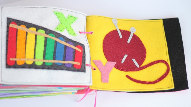 Felt Alphabet Book #crafts #felt #pattern #alphabet #book