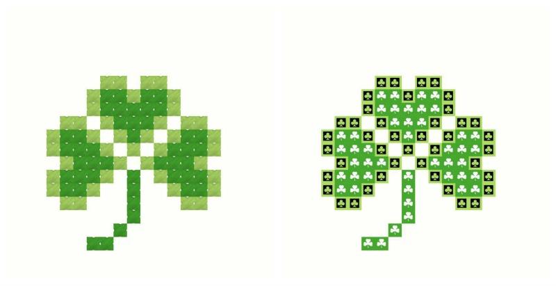 Clover--free cross stitch pattern