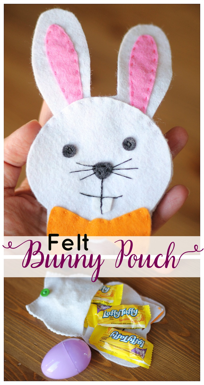 Felt Bunny Pouch for Easter Treats!  Free Template