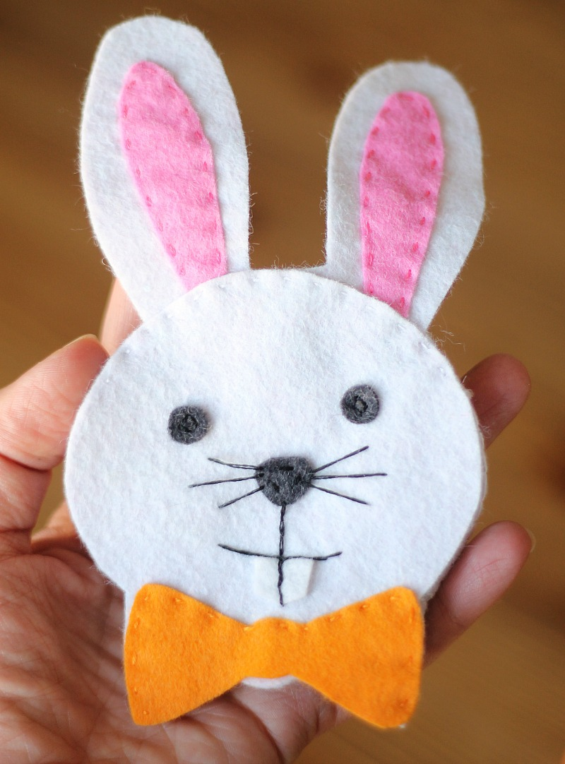 Felt Bunny Pouch with free template