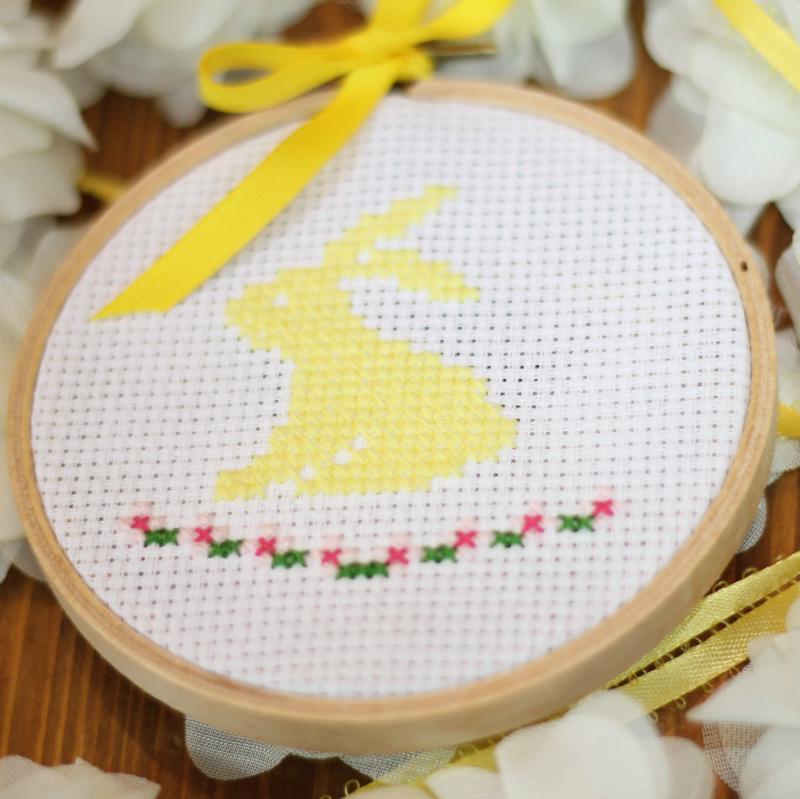 bunny cross stitch pattern free