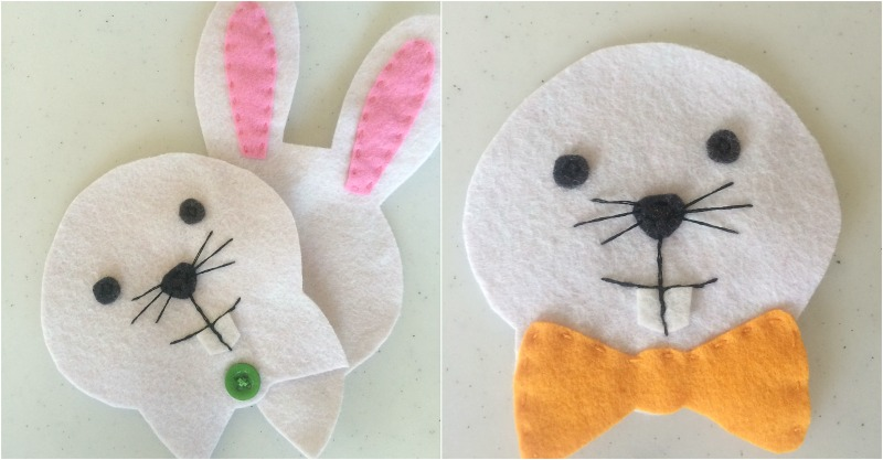 felt bunny pouch tutorial